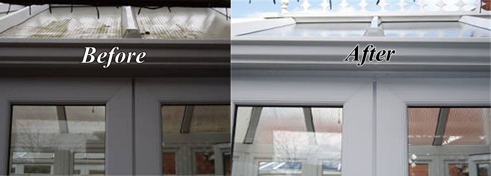 Conservatory, Gutter and Facia Cleaning also available